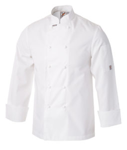 Club Chef Traditional Chef Jacket White Long Sleeves