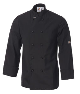 Club Chef Traditional Chef Jacket Black Long Sleeves