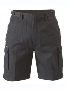 Bisley 8 Pocket Cargo Shorts - Black