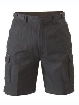 Bisley 8 Pocket Cargo Shorts - Black