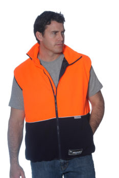 Huski U Turn Vest Orange/Navy