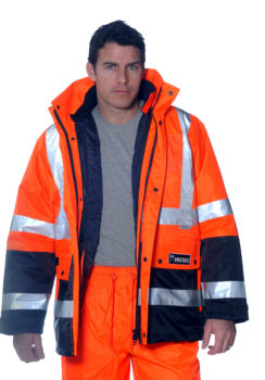 Huski Venture Jacket Orange-Navy