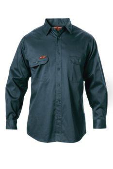 Hard Yakka Cotton Drill Shirt Long Sleeve - Green