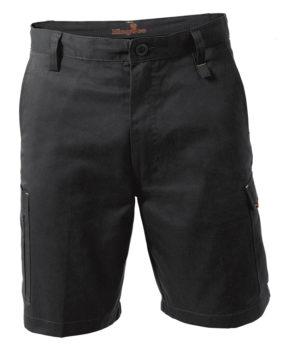 King Gee Workcool Drill Short - Black